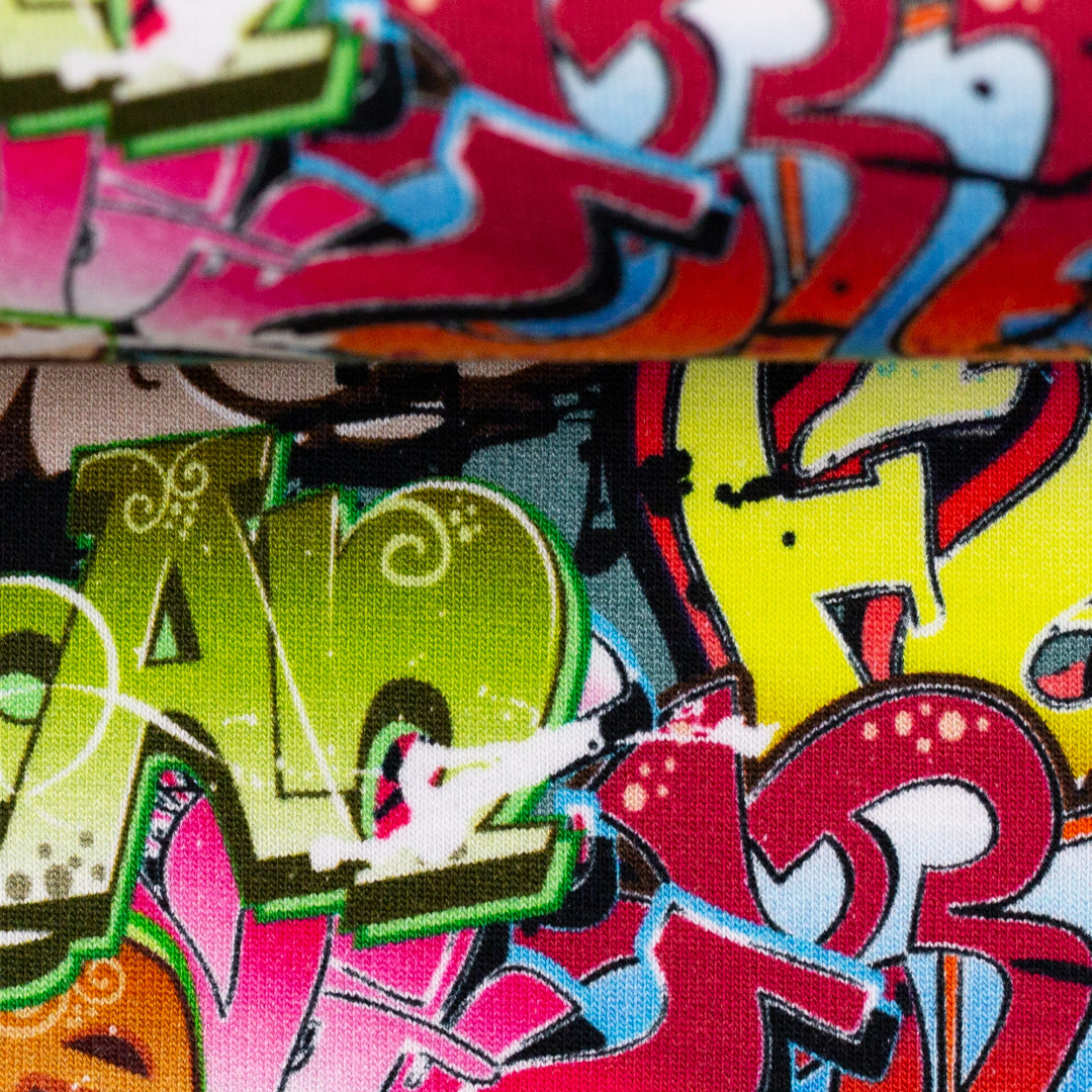 Sweat EUR/m Graffiti bunt Toronto Swafing