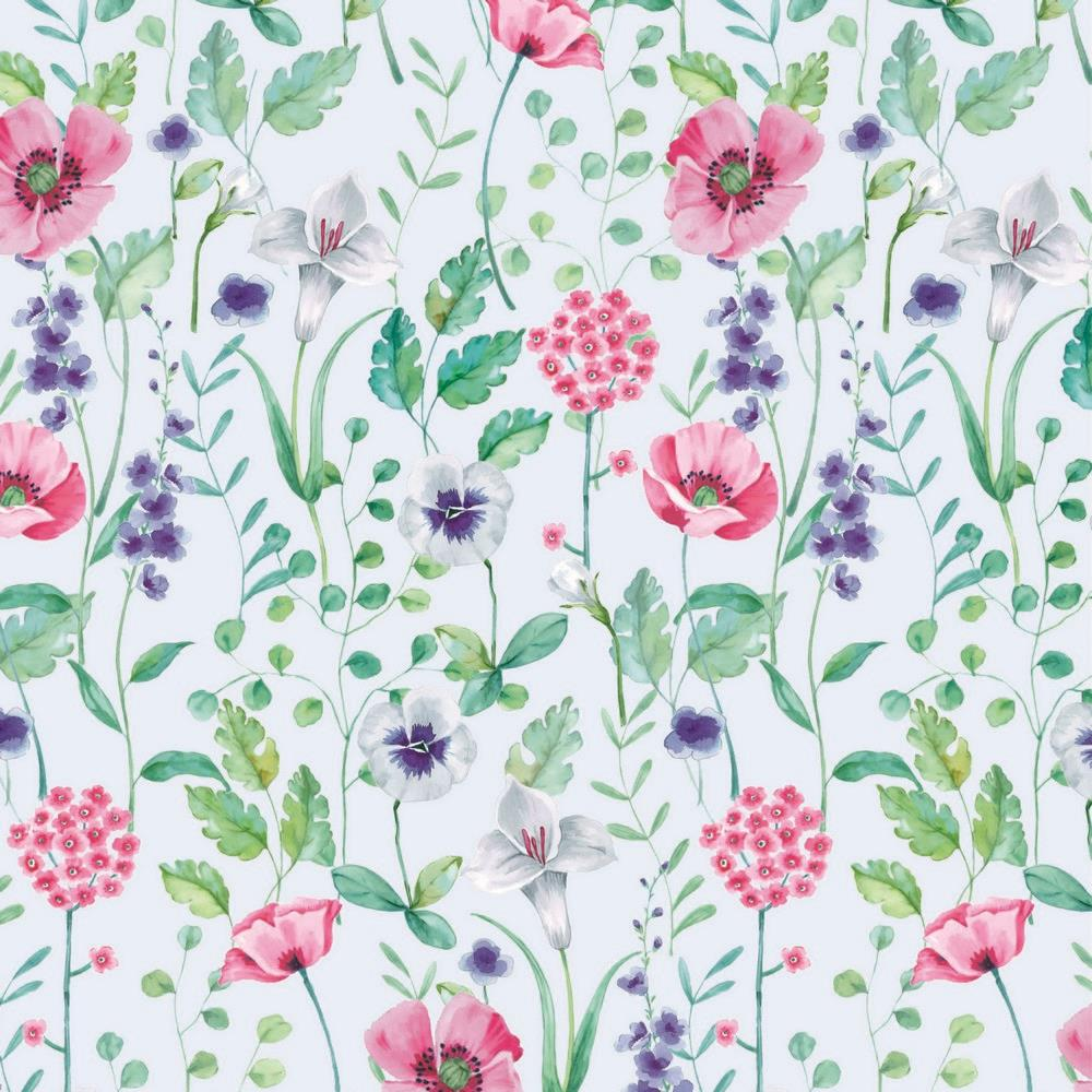 French Terry EUR/m Wiesenblumen Digitaldruck Blumen