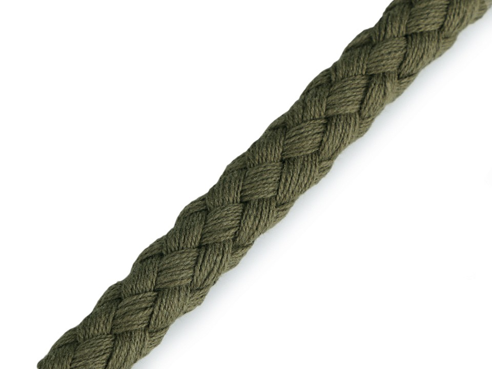 Hoodiekordel EUR/m khaki grün Kordel geflochten