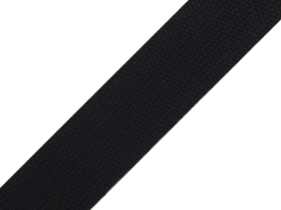 Gurtband EUR/m schwarz Baumwolle mm Meterware
