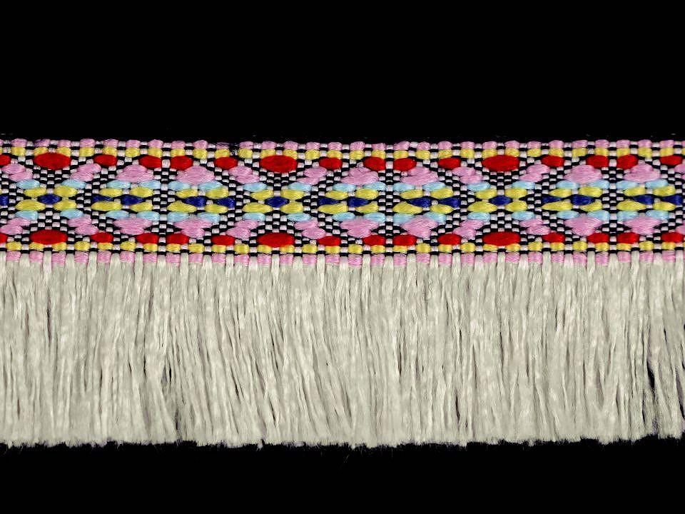 Fransenborte EUR/m Fransenband Indianer Ethno natur