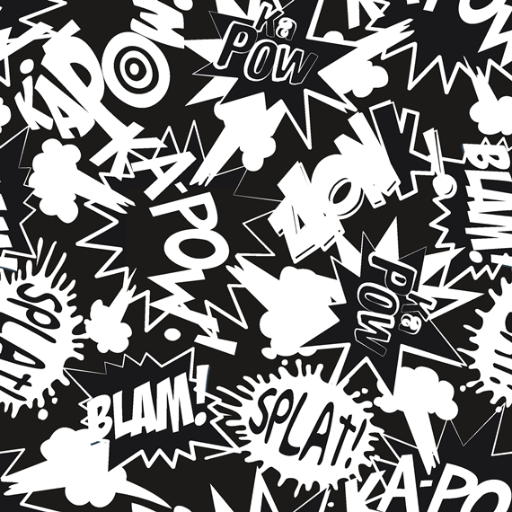 French Terry EUR/m Graffiti Sommersweat schwarz