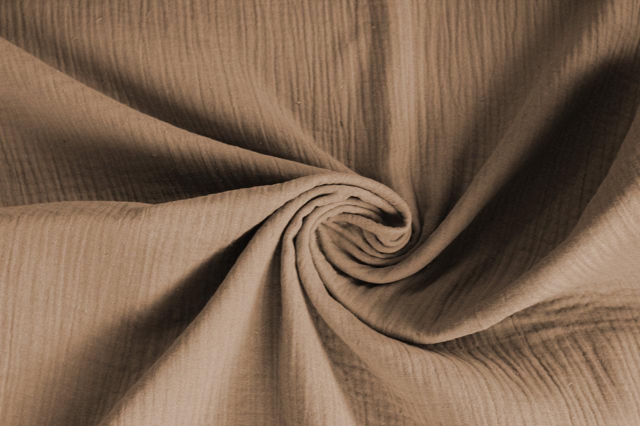 Musselin Double Gauze Windelstoff sand Stoff