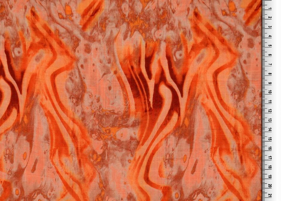 Viskosestoff EUR/m Baumwoll-Viskose Druck terracotta Batik