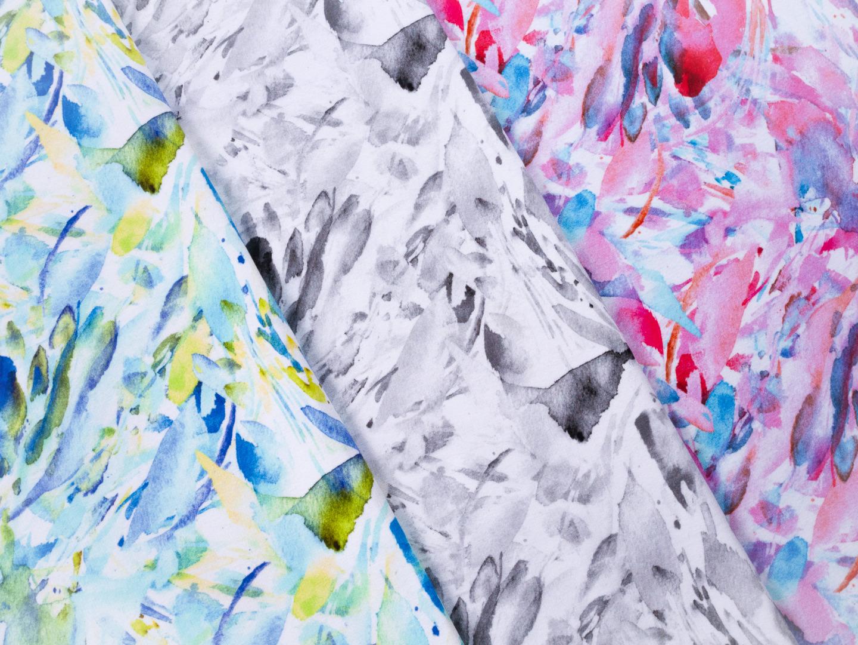 French Terry EUR/m Wasserfarben grau Swafing