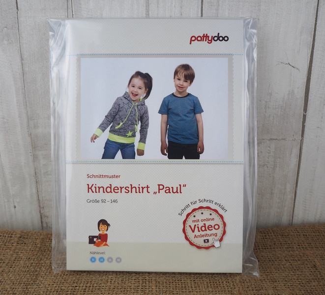 Pattydoo Schnittmuster Kindershirt Paul 92 -