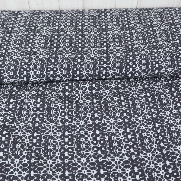 Viskosestoff Viskose grau weiß Batik Batikoptik