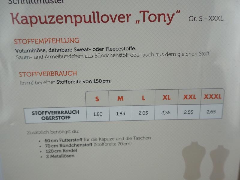 Pattydoo Schnittmuster Kapuzenpullover Tony S-XXXL 4