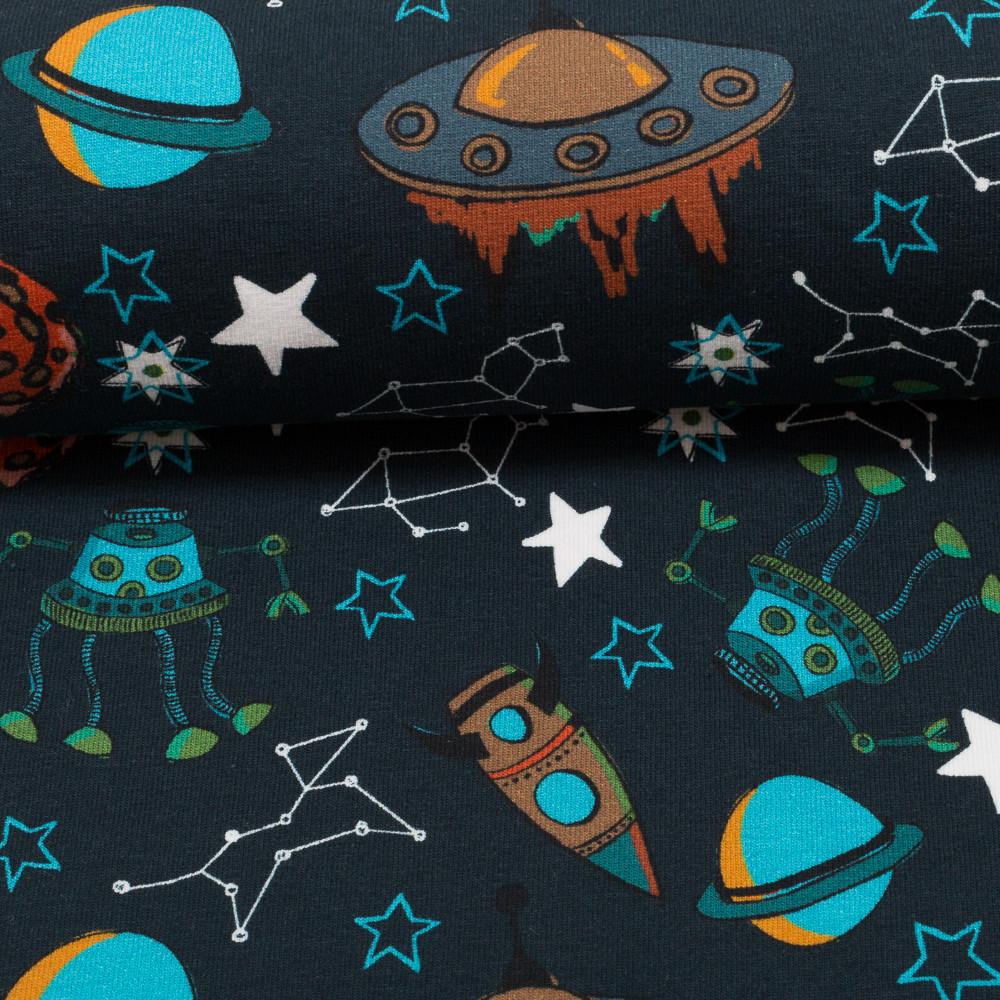 Jersey Space Travels by Jolijou Weltraum nachtblau