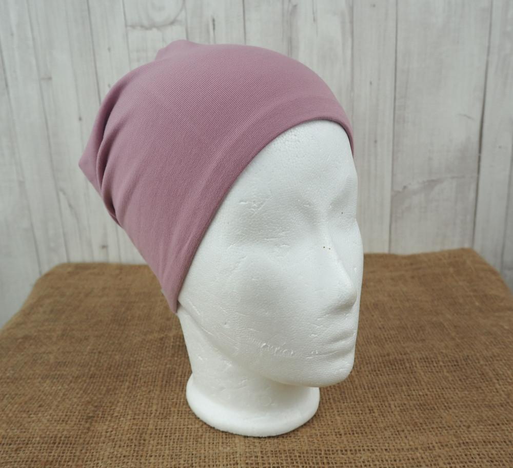 Beanie Mütze Drachen Strand rosa altrosa