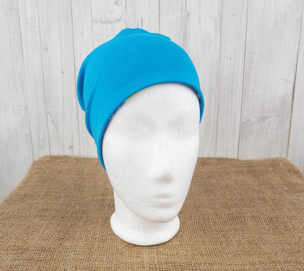 Beanie Mütze Drachen Strand blau türkis