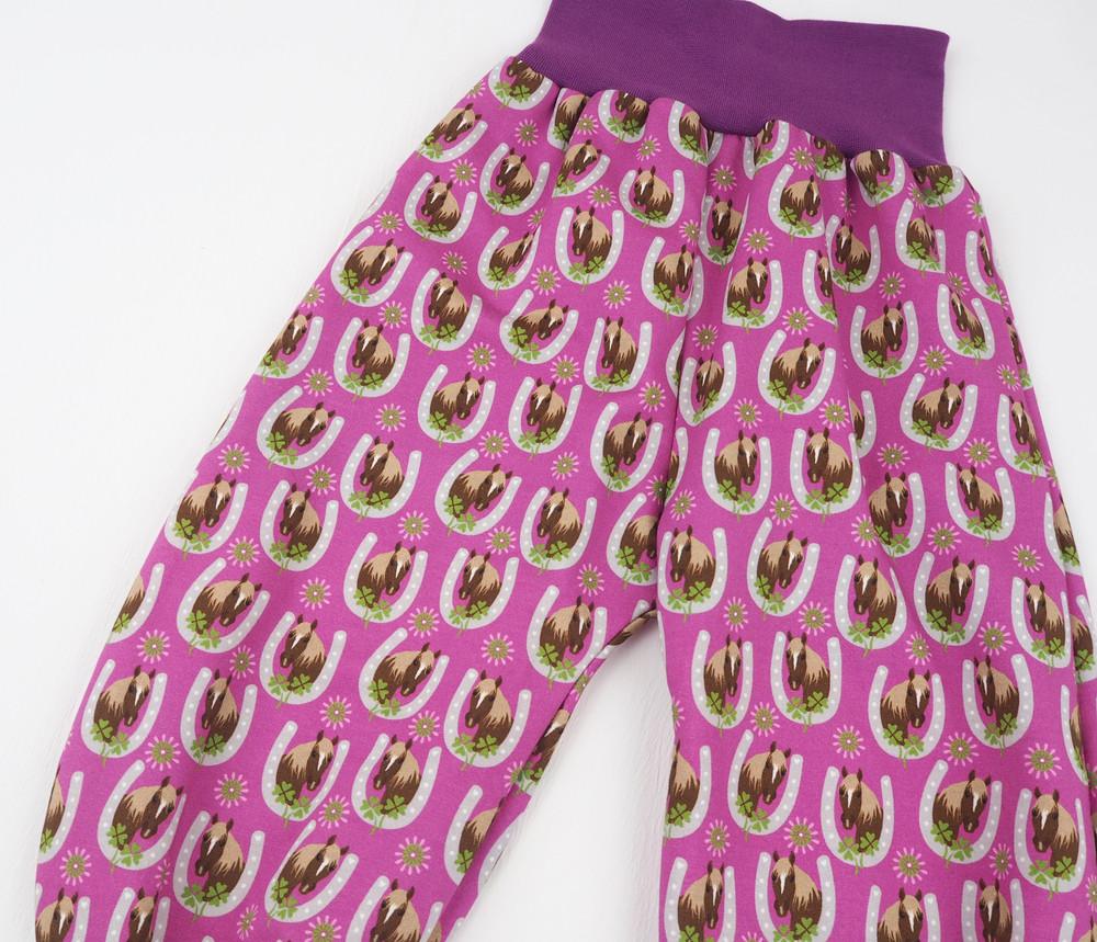 Pumphose Pferde Mädchen pink 86 3