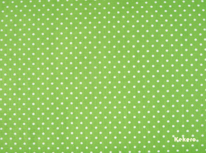 Baumwolle Punkte Pünktchen grün apfelgrün weiß
