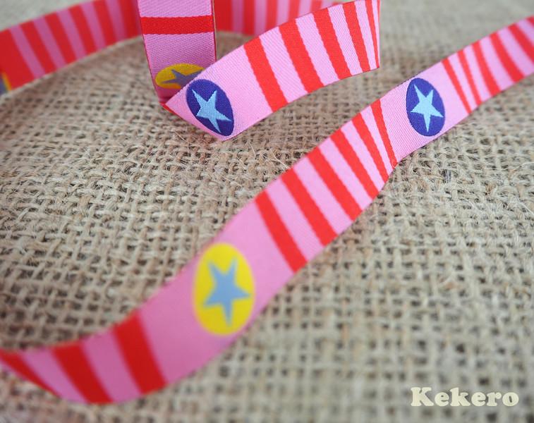 Webband Stars n Stripes Blaubbeerstern Sterne pink