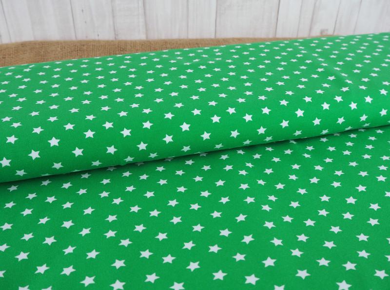 Jersey Sterne grün grasgrün weiß 2