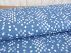 Reststück Jersey Viskosejersey jeansblau graublau Kritzel