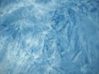 Reststück Wildlederimitat Lederimitat batik blau