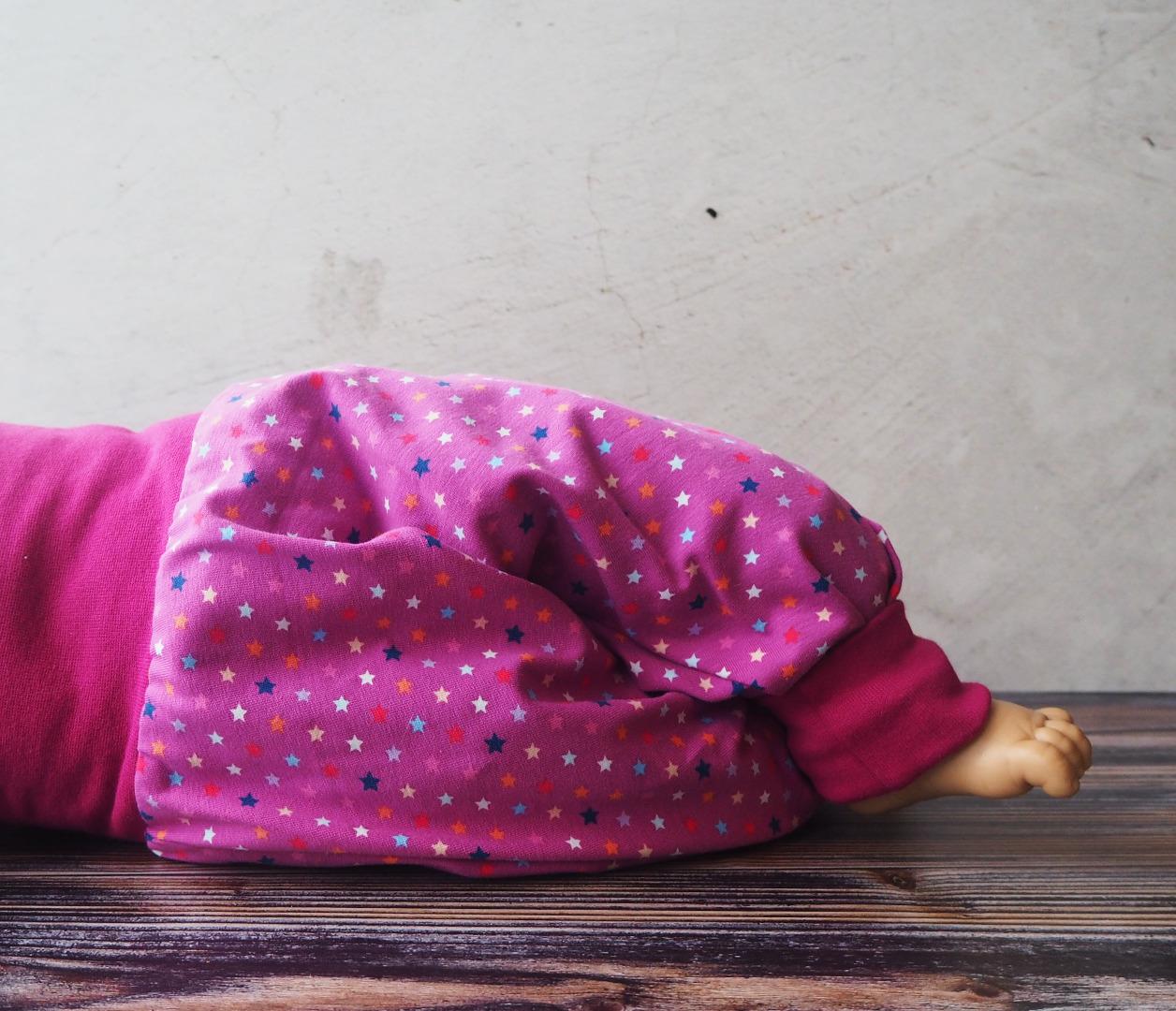 Pumphose Baby pink mit Sternchen Haremshose