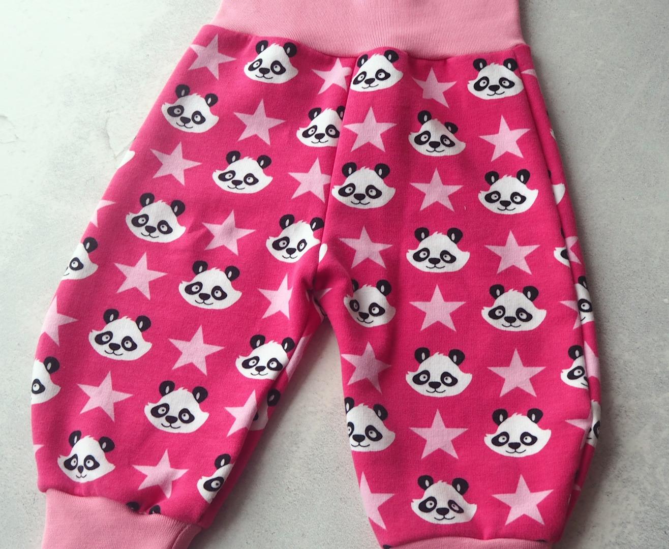 Pumphose Größe pink mit Pandas und