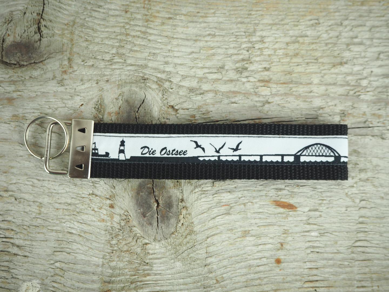 Schlüsselband kurz Ostsee schwarz weiß 2