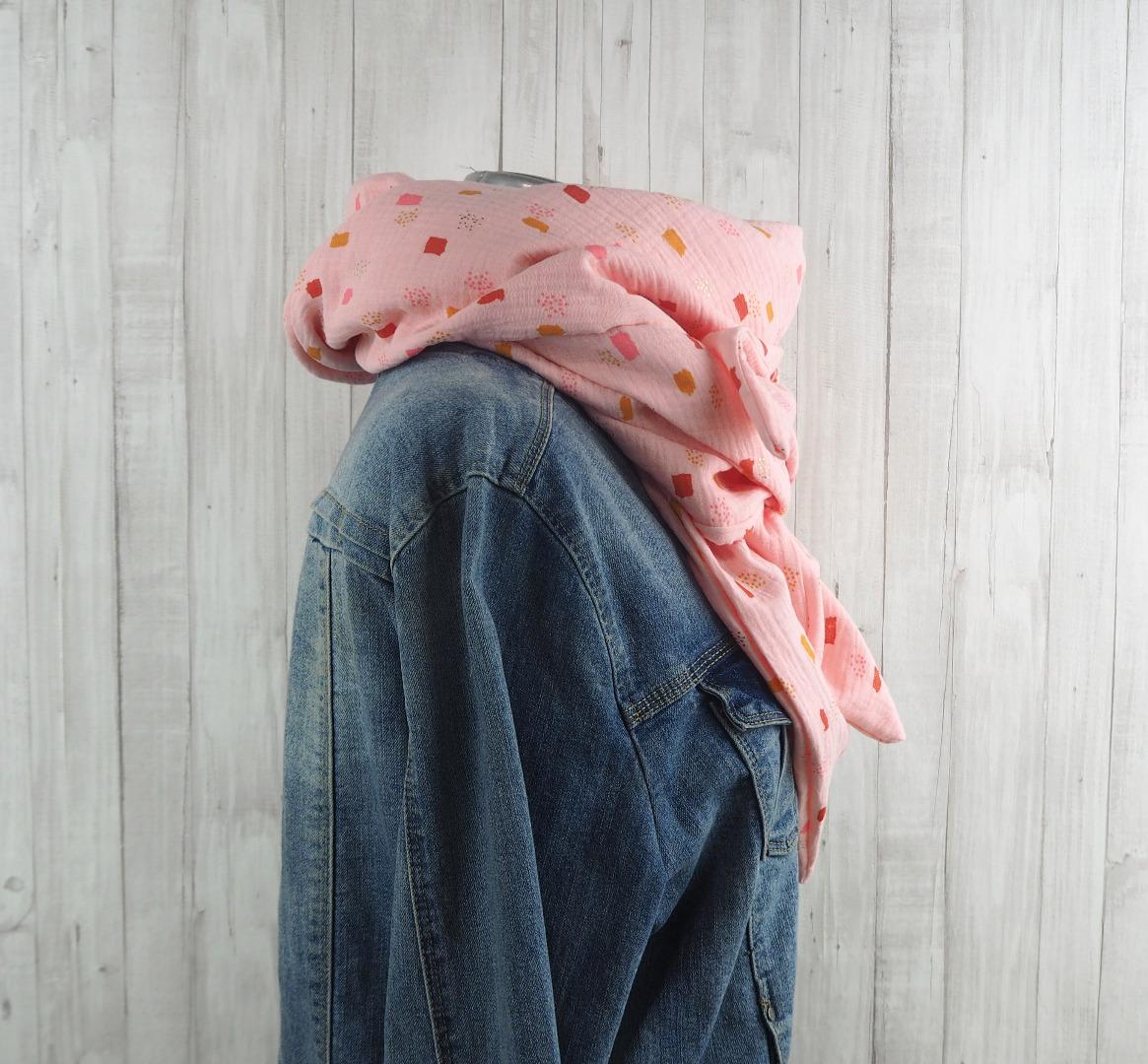 Tuch lachsrosa Dreieckstuch Musselin Damen Schal