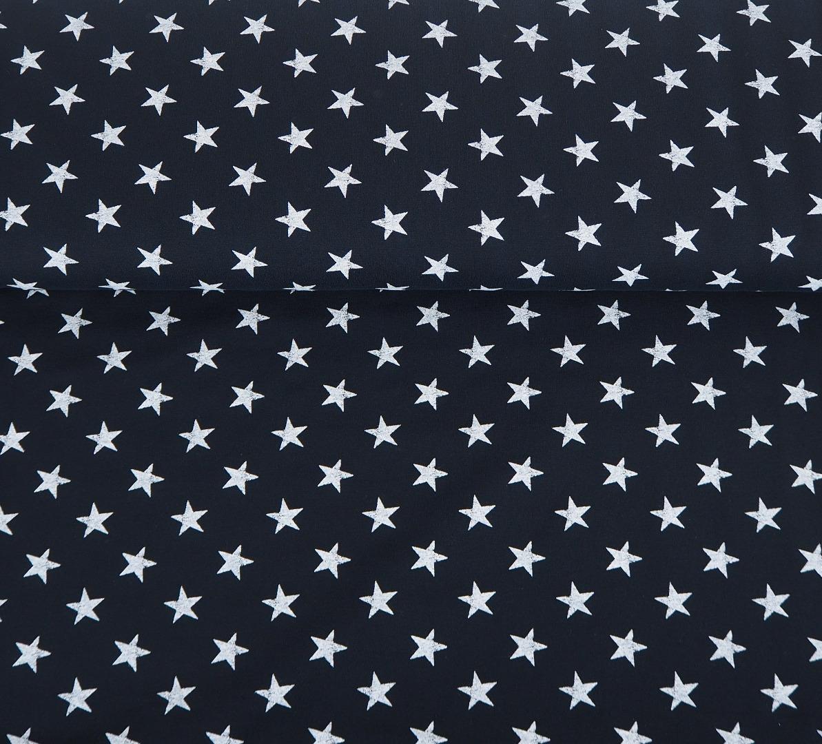 French Terry Sterne EUR/m schwarz weiß