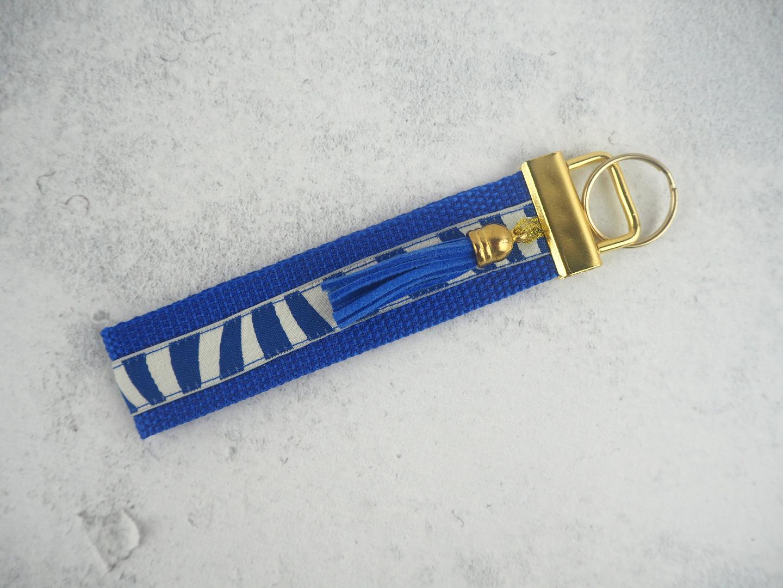 Schlüsselband gold blau königsblau Tassel Quaste