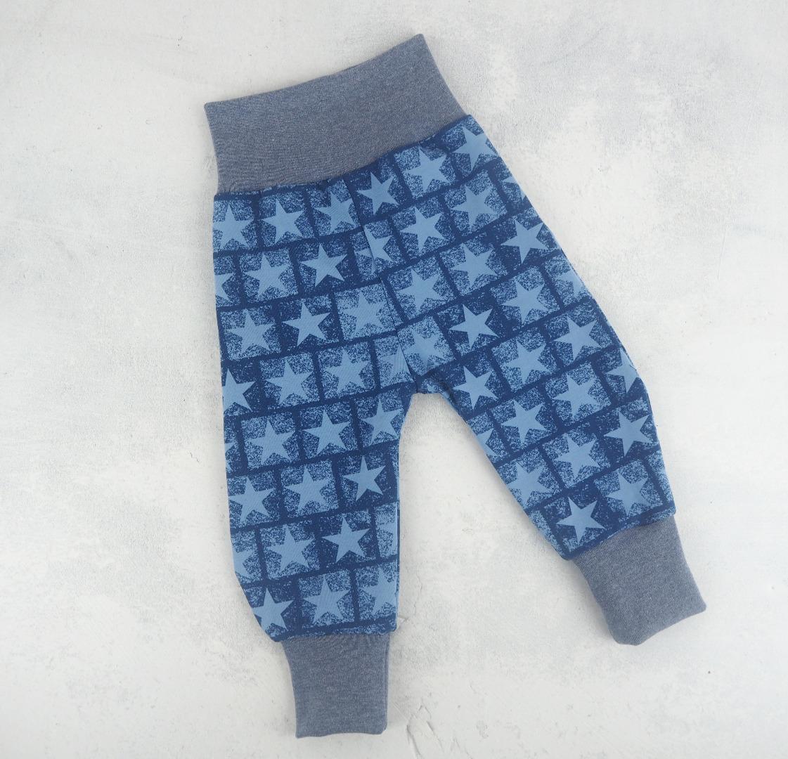 Pumphose Baby dunkelblau mit großen Sternen