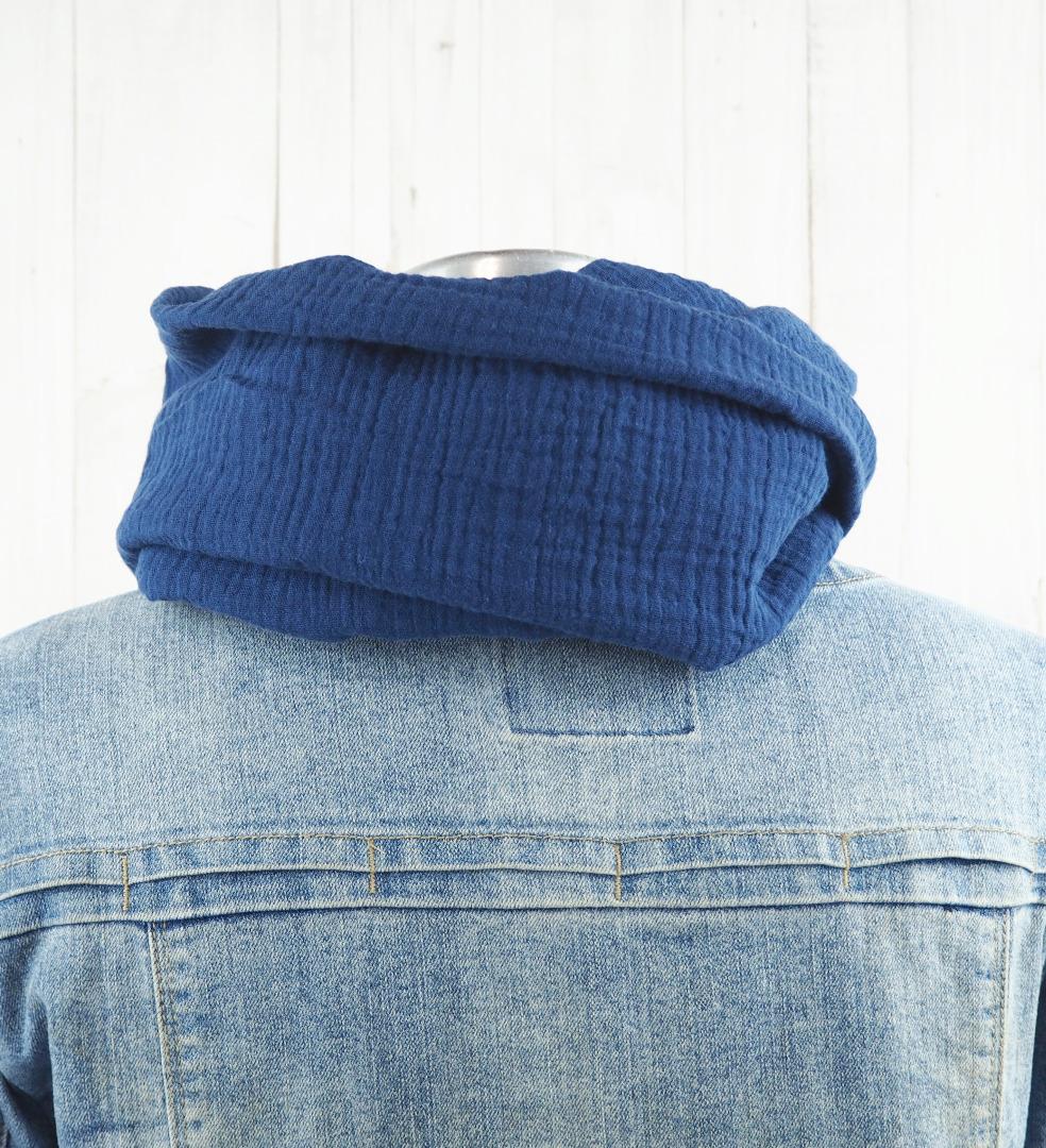 Loop Musselin Damen - Loopschal jeansblau