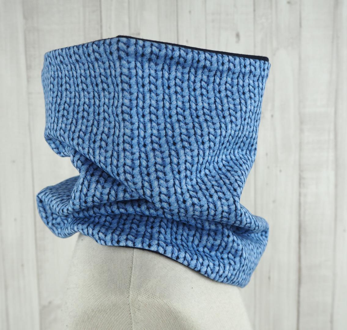 Loop Mädchen hellblau Schlupfschal aus leichtem