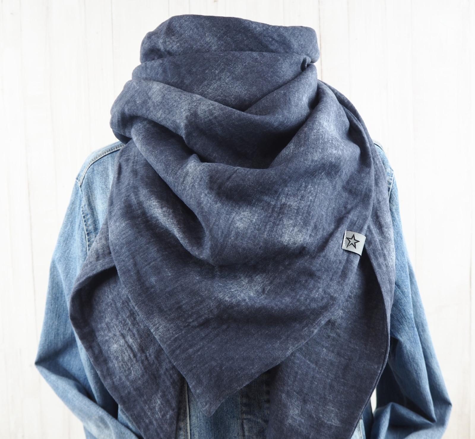 Tuch Dreieckstuch Musselin Damen Schal Batik