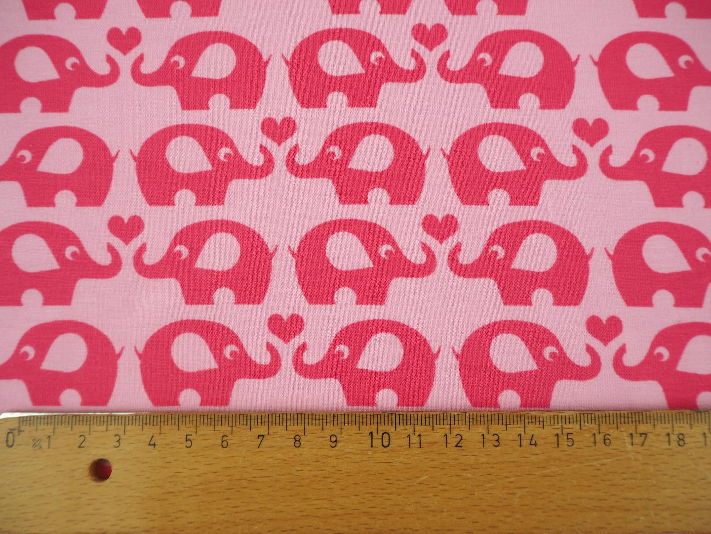 Jersey rosa pink mit Elefanten und