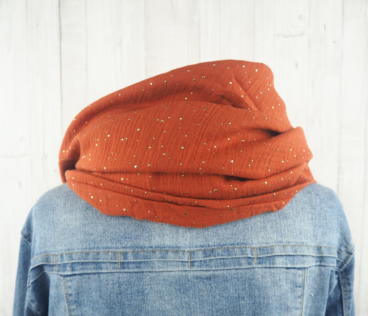 Tuch Dreieckstuch Musselin Damen Schal rost