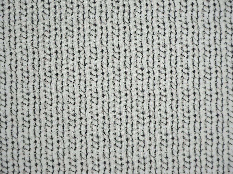Cosy knitting Cherry Picking naturweiß Strickoptik