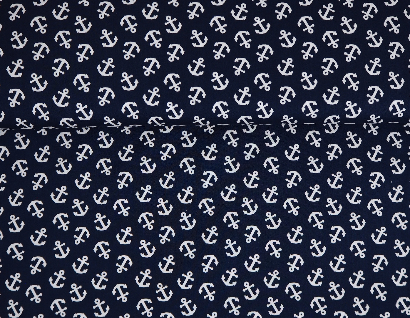 Baumwolle mit Ankern - dunkelblau 3