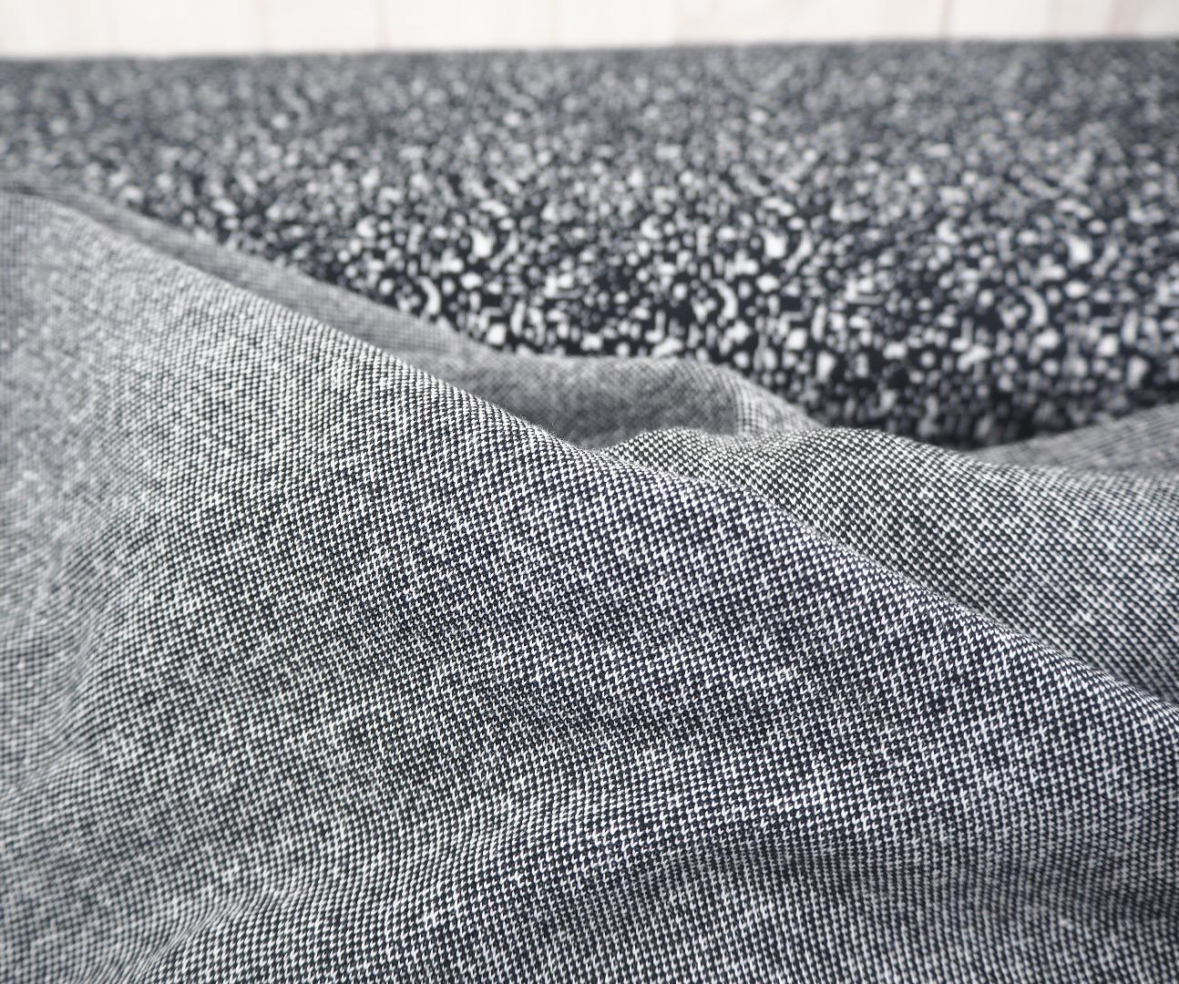 Jaquard schwarz weiß kleingemustert Pfeffer und