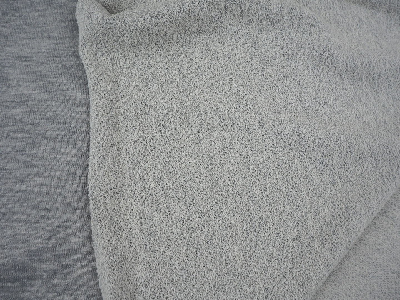 Sweat grau meliert melange Kombistoff Sweat