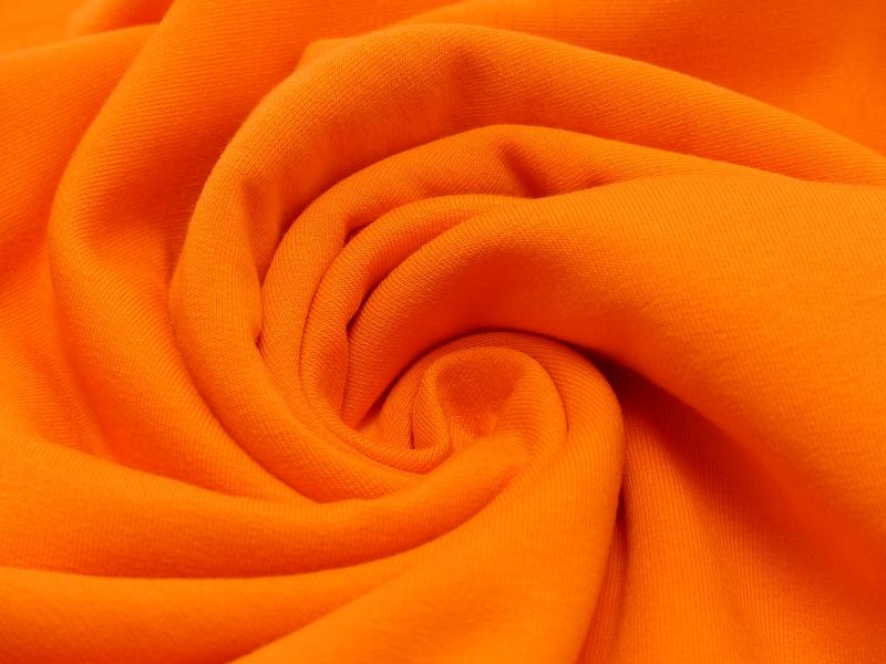 Sweat EUR/m orange angeraut und dehnbar