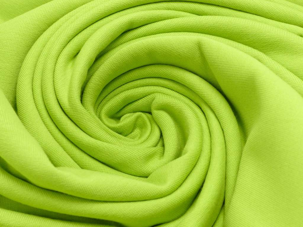 Sweat EUR/m apfelgrün elastisch und angeraut
