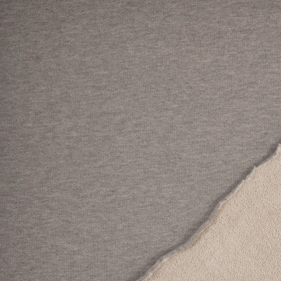 Sweat Strickstoff grau meliert Seemannssweat Doubleface