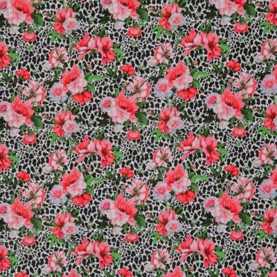 Jersey 16,40 EUR/m Blumen Leo, Jersey Mustermix Blüten und Leolook, Swafing Matti, Stoff Meterware Damenstoff Damenjersey