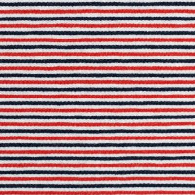Jersey EUR/m Ringel rot blau weiß