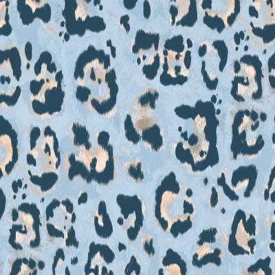 Jersey Leo Leomuster Leoprint Leodruck, blau, Jersey Stoff Meterware Damenstoff Damenjersey Baumwolljersey