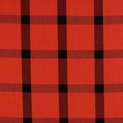 Blusenstoff EUR/m Karo rot schwarz weich