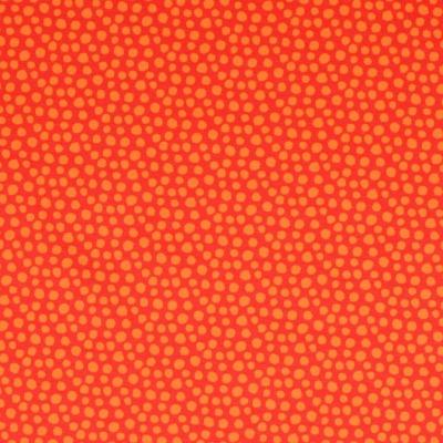 Jersey EUR/m orange mit Tupfen Stoff