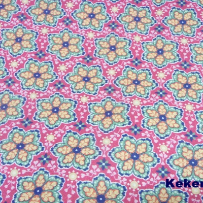 Reststück Baumwolle Webware emily Blumen pink