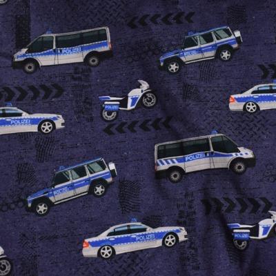 Jersey Polizei Stoff Jungen Männer Meterware