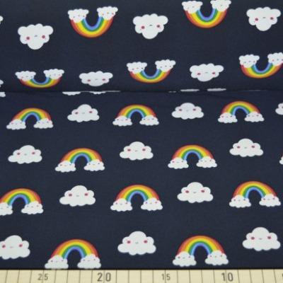 Softshell schwarz gemustert mit Regenbogen und