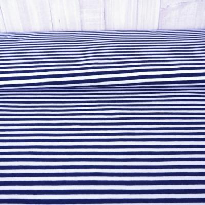 Reststück Jersey Ringel sehr dunkles blau