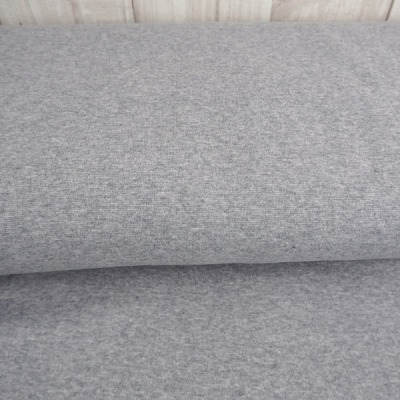 Reststück Sweat Sommersweat Eike grau graumeliert meliert - Reststück 0,35 m